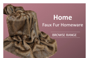 Home  Faux Fur Homeware