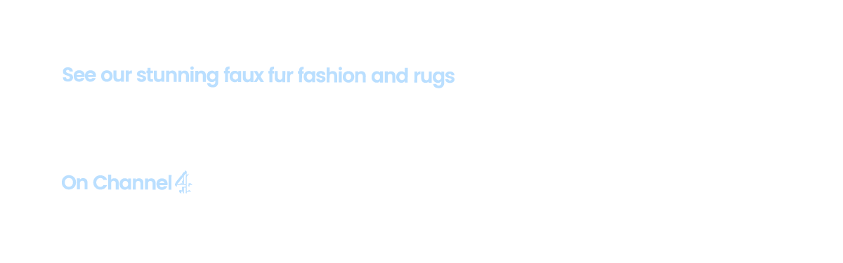 See our stunning faux fur fashion and rugs on The Jump 2017