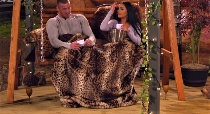 Our Faux Fur Throws and Cushions on ITV's The Cabins