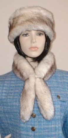 New Faux Fur Slim Collar and Headband in one