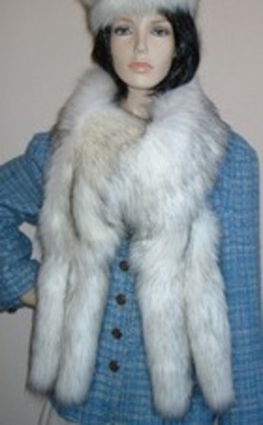 Fabulous New Faux Fur Tail Scarves, Stoles and Wraps